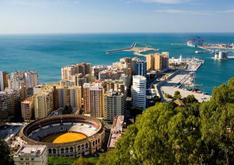 viata aerea de Málaga