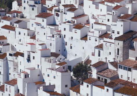 Casas blancas en Málaga