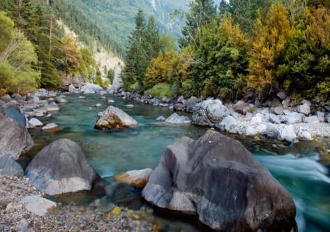 vista de un rio del Pirineo aragonés