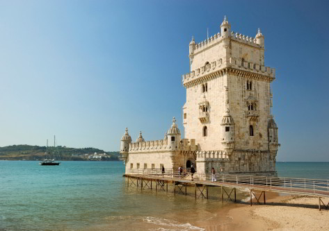 Castillo que se puede ver en el viaje a portugal