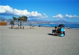 Cala de la isla de Alicante