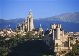 Vista aerea de Segovia