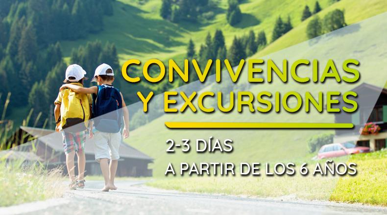 Excursiones y convivencias de 3 y 3 días a partir de 6 años.